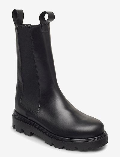 Lia Black Leather - schoenen - black