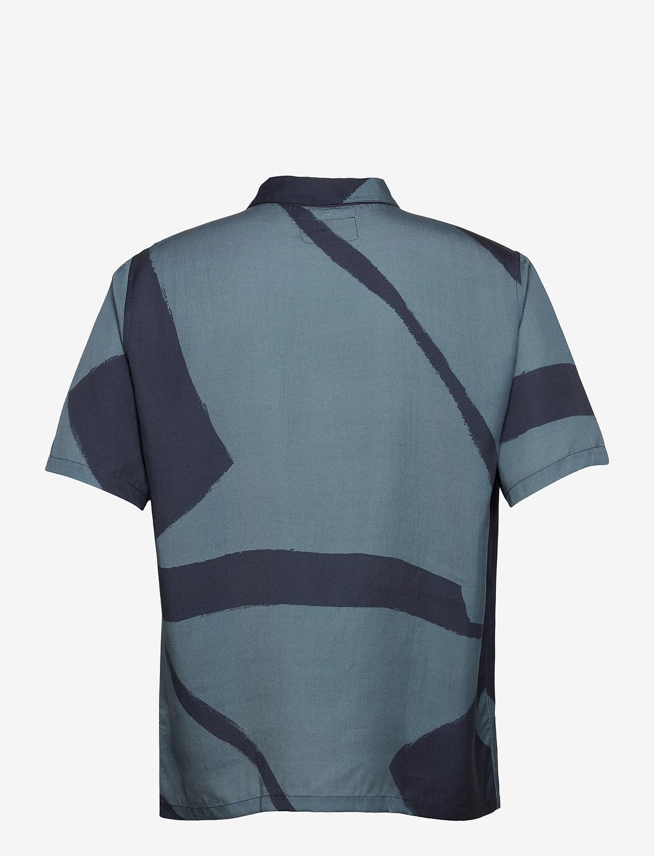Folk - GABE SHIRT - chemises à manches courtes - border print navy - 1