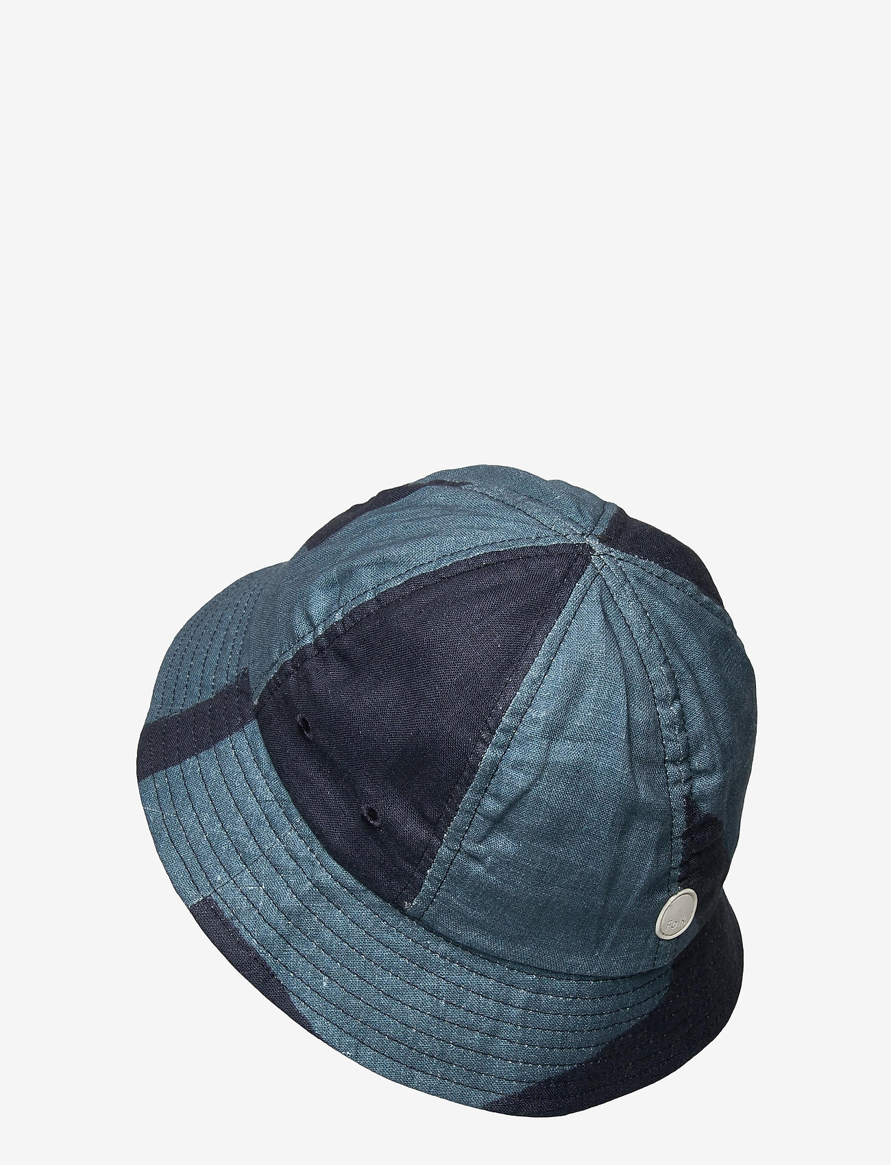 Folk - BUCKET HAT - bonnets & casquettes - border print navy - 1