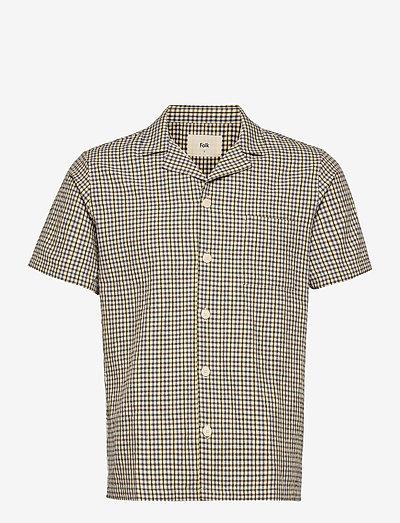 SS SOFT COLLAR SHIRT - chemises de lin - gingham windowpane
