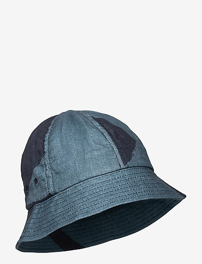 BUCKET HAT - bonnets & casquettes - border print navy