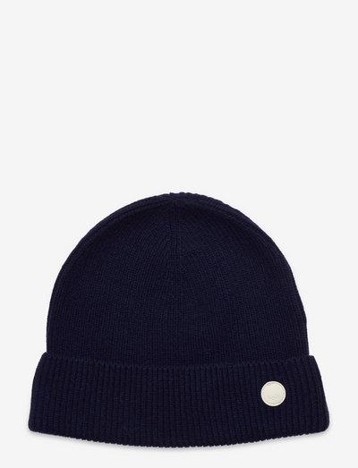 WOOL CASHMERE BEANIE - czapki i kapelusze - ink