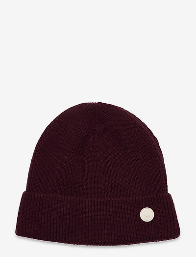 WOOL CASHMERE BEANIE - bonnets & casquettes - oxblood