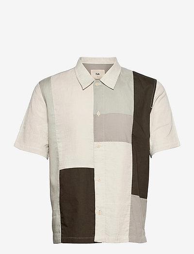 PATCHWORK SEOUL SHIRT - chemises de lin - pale olive mix