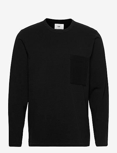 LS STACK TEE - t-shirts basiques - soft black