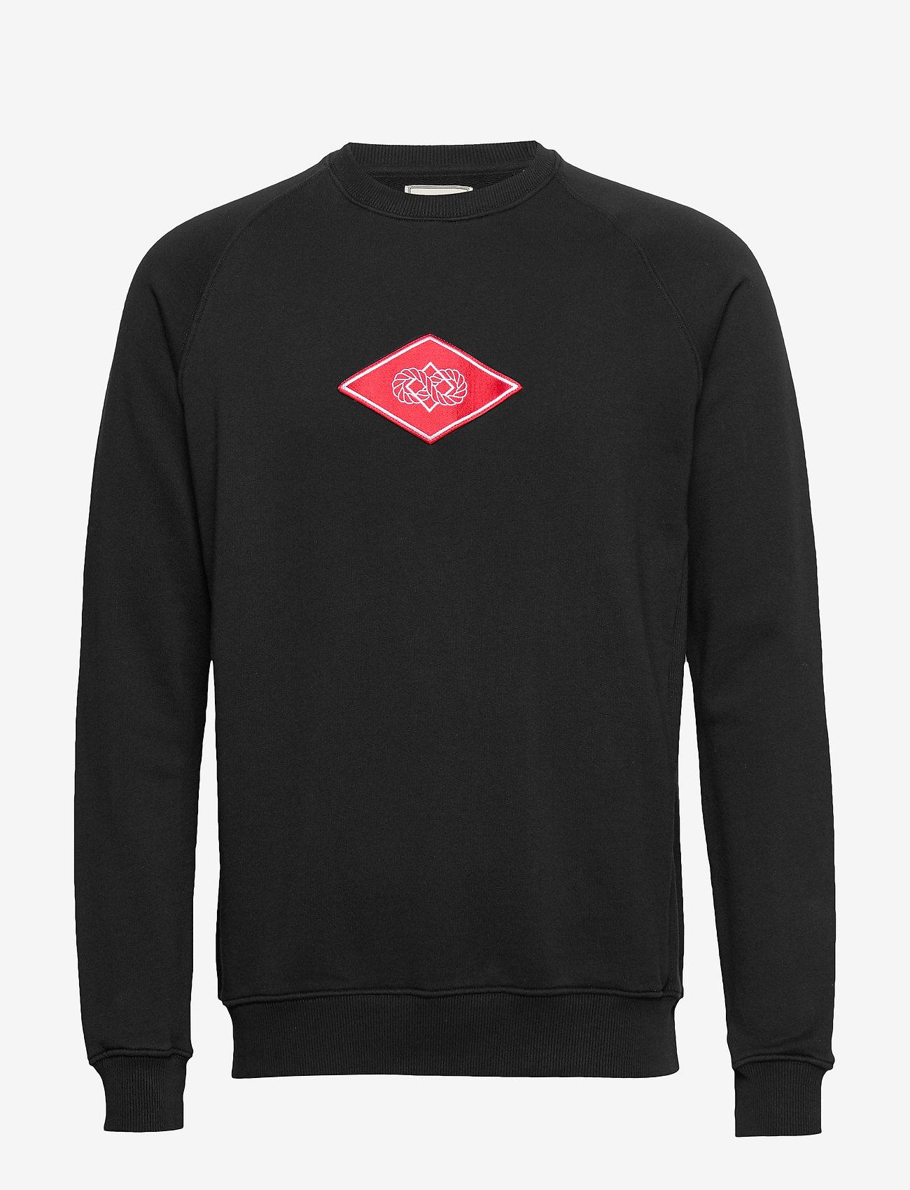 Forét - KNOT SWEATSHIRT - BLACK - basic-sweatshirts - black - 0