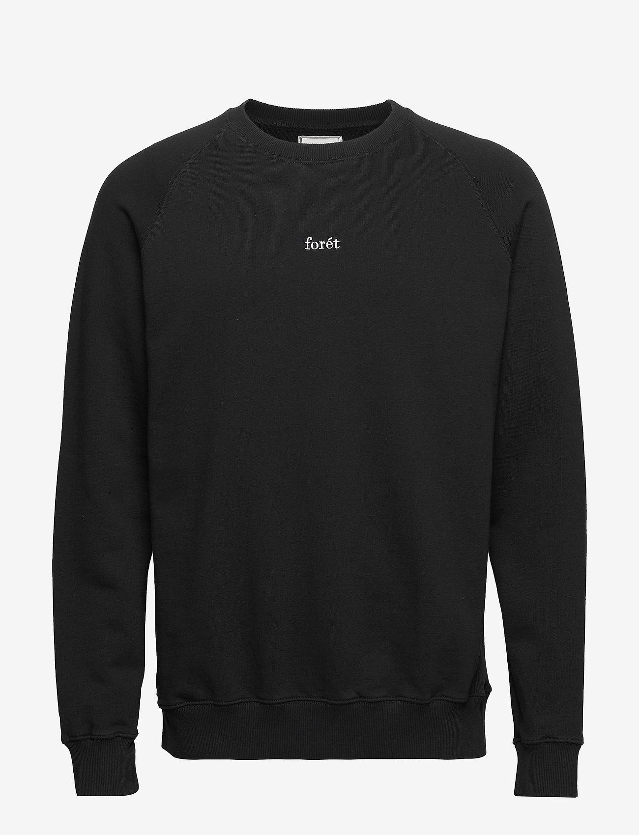 Forét - OX SWEATSHIRT - basic-sweatshirts - black - 0