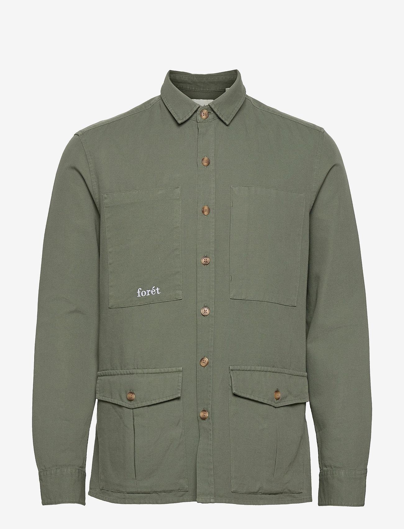 Forét - SHARK SHIRT - kleding - dark sage - 0