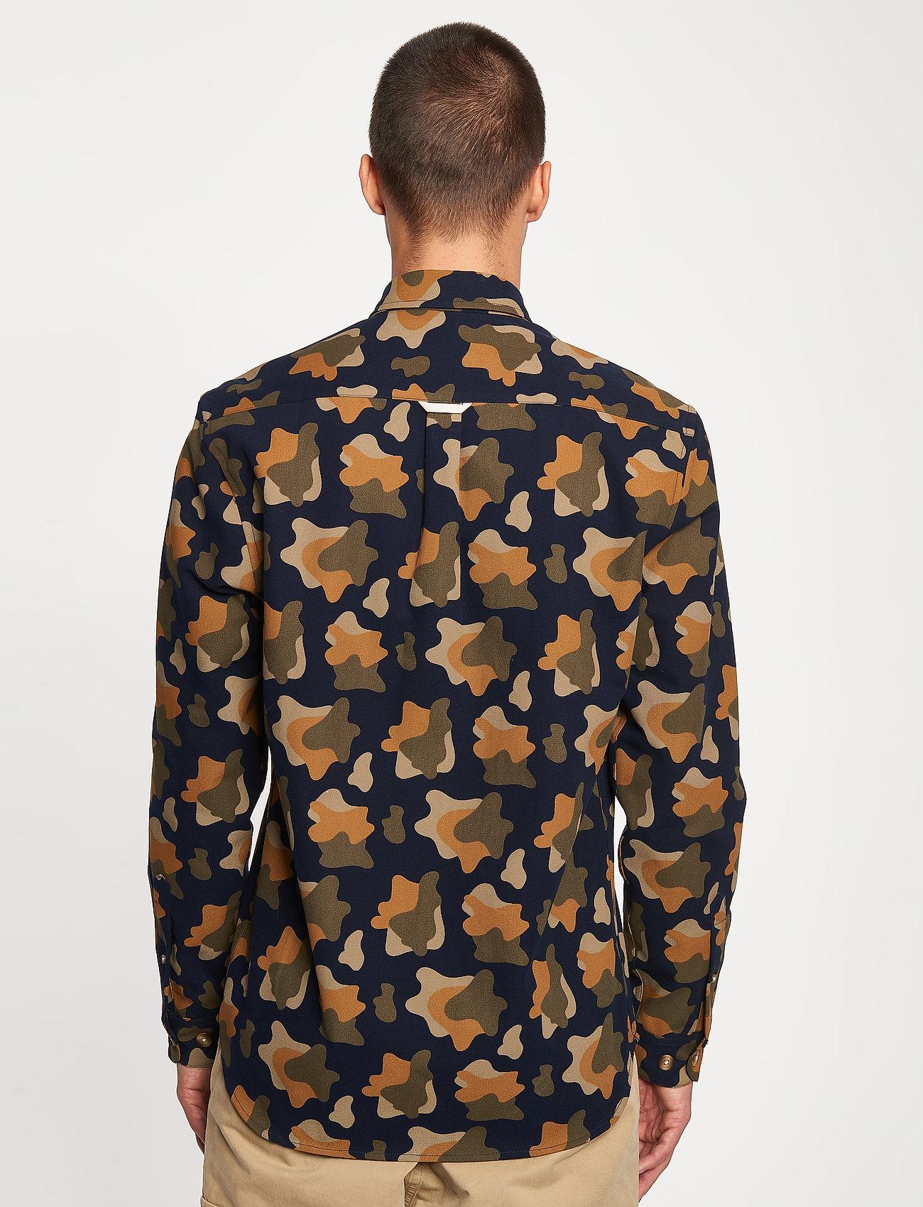 Forét - GONE SHIRT CAMO - chemises de lin - slate - 3