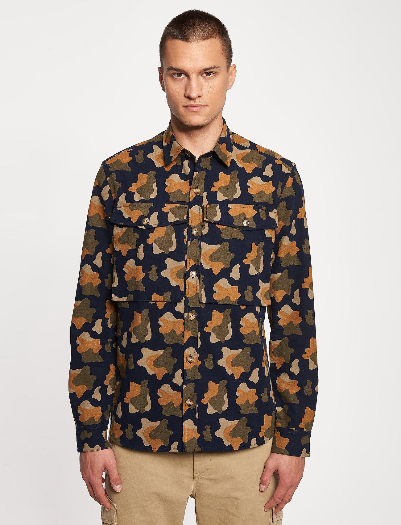 Forét - GONE SHIRT CAMO - chemises de lin - slate - 4