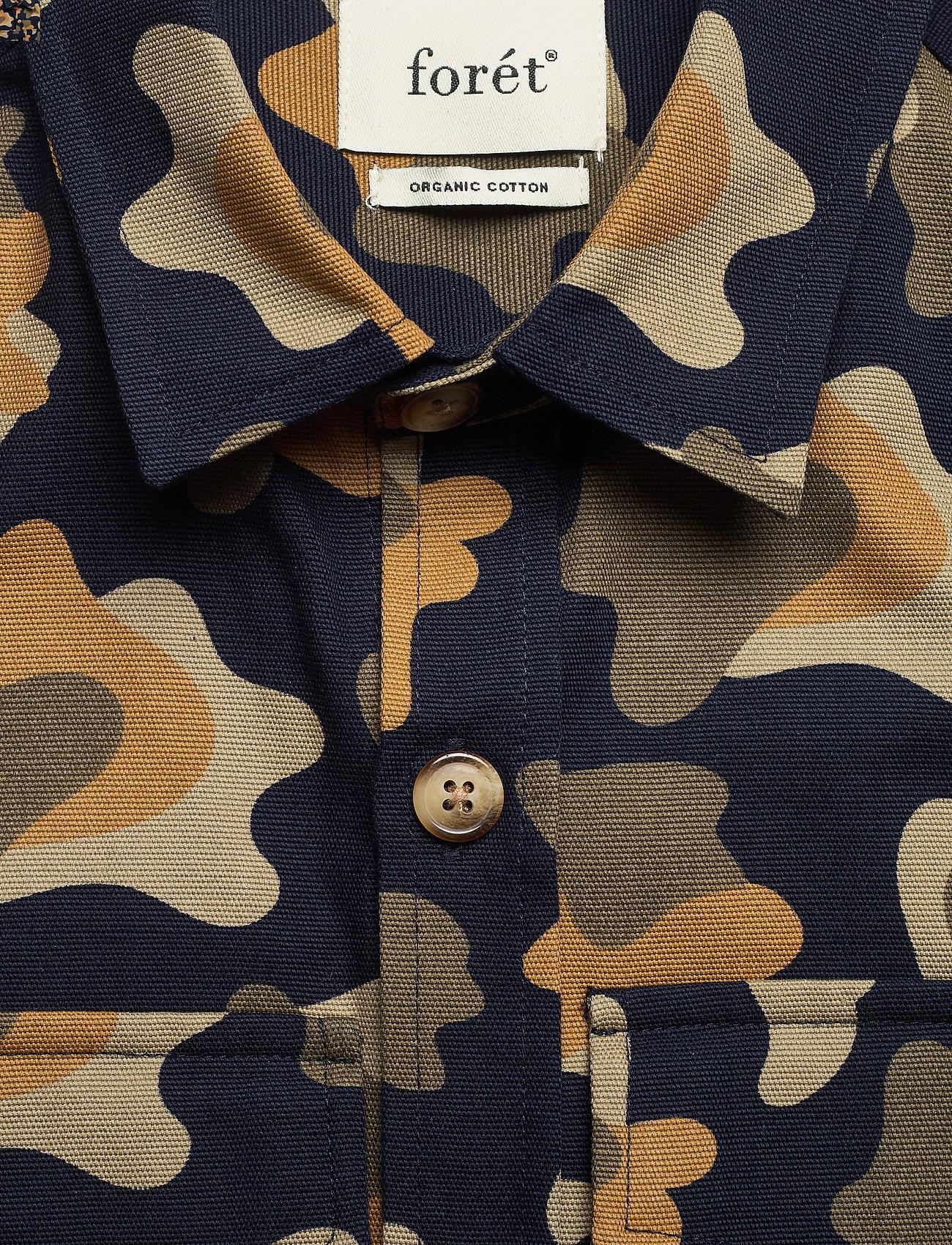 Forét - GONE SHIRT CAMO - chemises de lin - slate - 5
