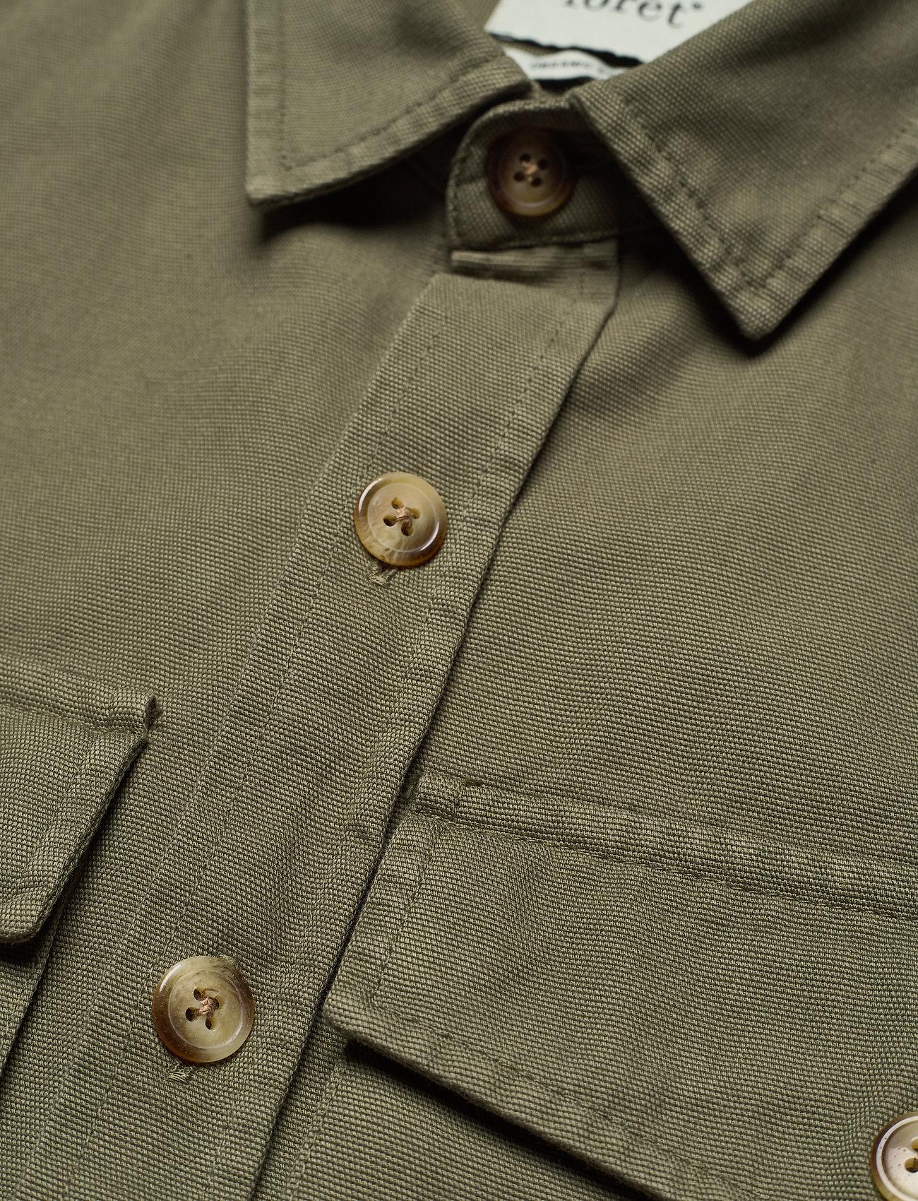 Forét - GONE SHIRT CAMO - odzież - slate - 4