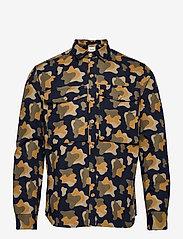 Forét - GONE SHIRT CAMO - chemises de lin - slate - 1