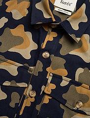 Forét - GONE SHIRT CAMO - chemises de lin - slate - 6