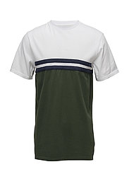JOURNEY T-SHIRT - DARK GREEN/NAVY/WHITE