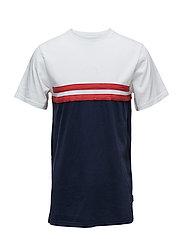 JOURNEY T-SHIRT - NAVY/RED/WHITE