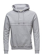 SPACE HOODIE - LIGHT GREY MELANGE/WHITE