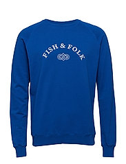 TACKLE SWEATSHIRT - BLUE/WHITE