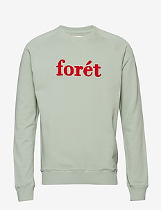 SPRUCE SWEATSHIRT - SAGE GREEN/RED