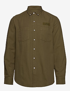 BEAR SHIRT - overshirts - olive