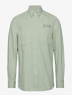 BEAR SHIRT - overshirts - sage green