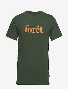 LOG T-SHIRT - DARK GREEN/COPPER