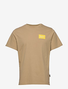 TREK T-SHIRT - KHAKI/YELLOW