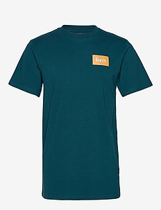TREK T-SHIRT - PETROL/TAN