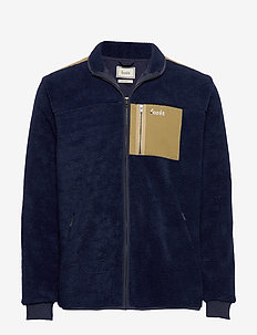 CABIN FLEECE JACKET - NAVY/OLIVE