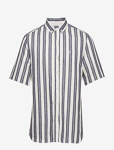 ELM SHIRT - chemises à manches courtes - white/indigo