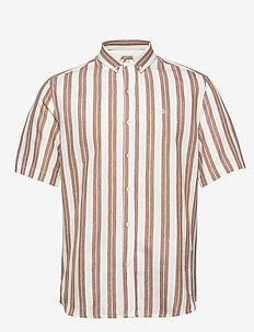 ELM SHIRT - short-sleeved shirts - white/tan