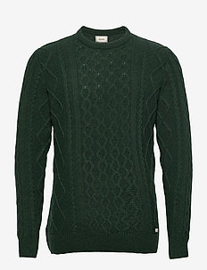 GROW CABLE KNIT - DARK GREEN - tricots basiques - dark green