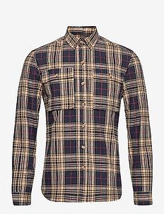 LAVA - chemises décontractées - checked blue/cream