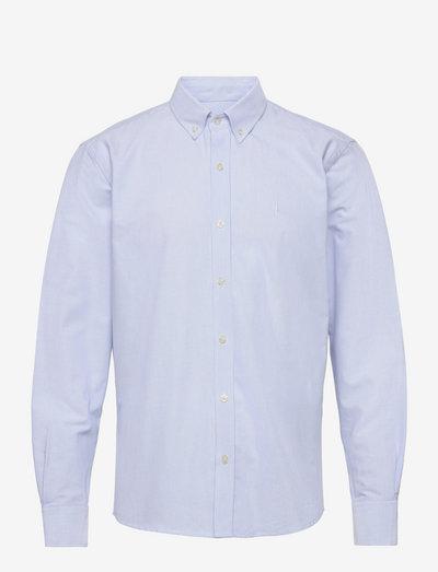 LIFE SHIRT - linnen overhemden - white/lightblue