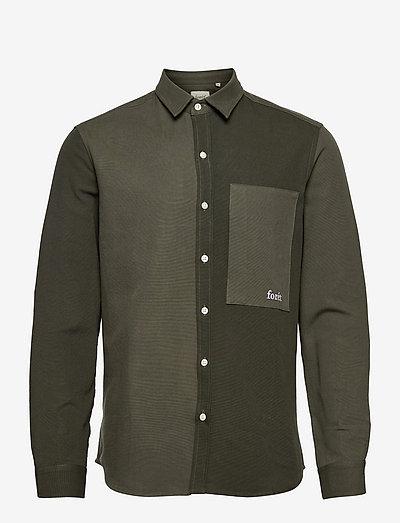 EEL SHIRT - koszule w kratkę - dark green