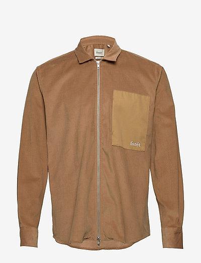 WALRUS ZIP SHIRT - linnen overhemden - khaki