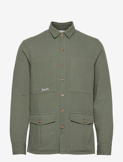 SHARK SHIRT - koszule w kratkę - dark sage