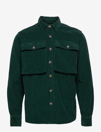 GONE CORDUROY - linnen overhemden - dark green