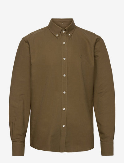 LIFE SHIRT - linnen overhemden - army