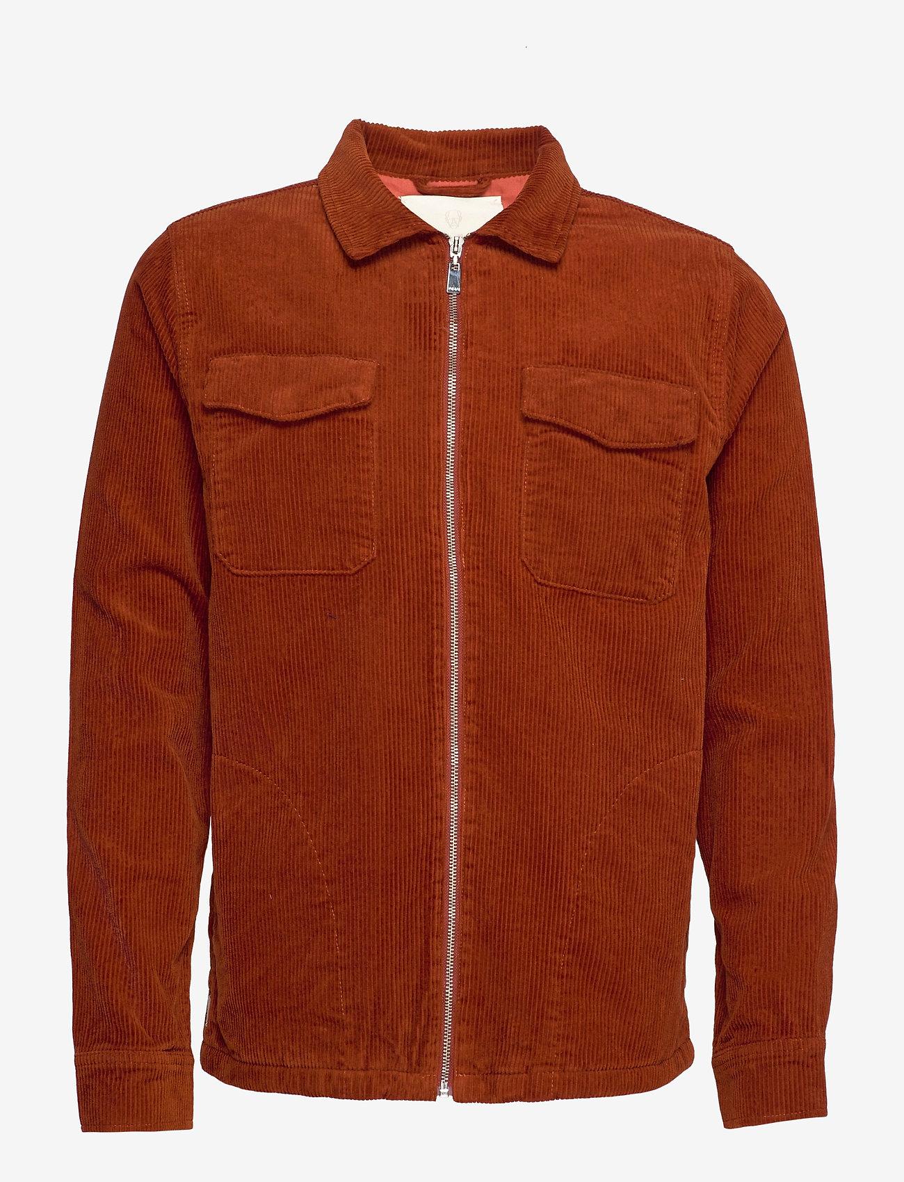 FRAM - Oscar Cord Jacket - jeansjacken - auburn - 0