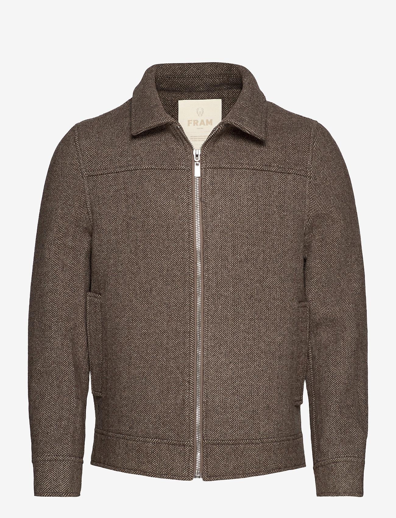 FRAM - League Jacket - wool jackets - potting soil - 0