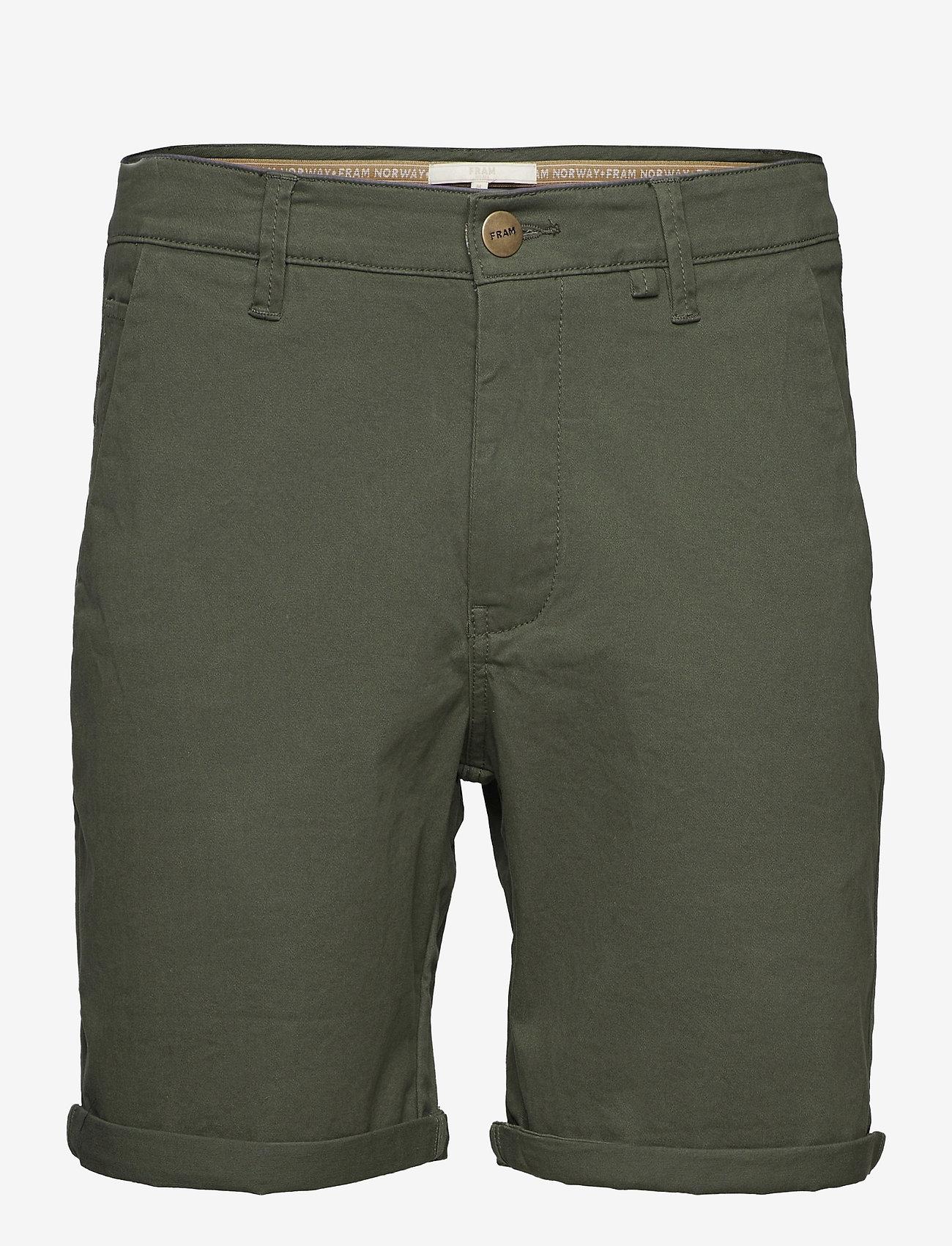 FRAM - Bygdøy Shorts - chinos shorts - deep lichen green - 0