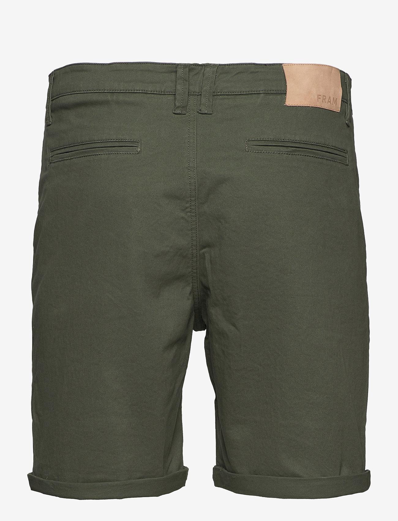 FRAM - Bygdøy Shorts - chinos shorts - deep lichen green - 1