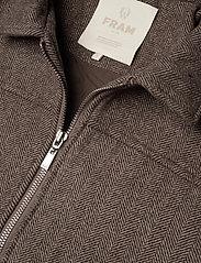 FRAM - League Jacket - wool jackets - potting soil - 3