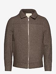 FRAM - League Jacket - wool jackets - potting soil - 1