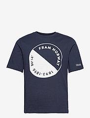 FRAM - Wave Tee - kurzärmelig - outer space - 0
