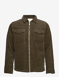 Oscar Cord Jacket - denimjakker - military olive