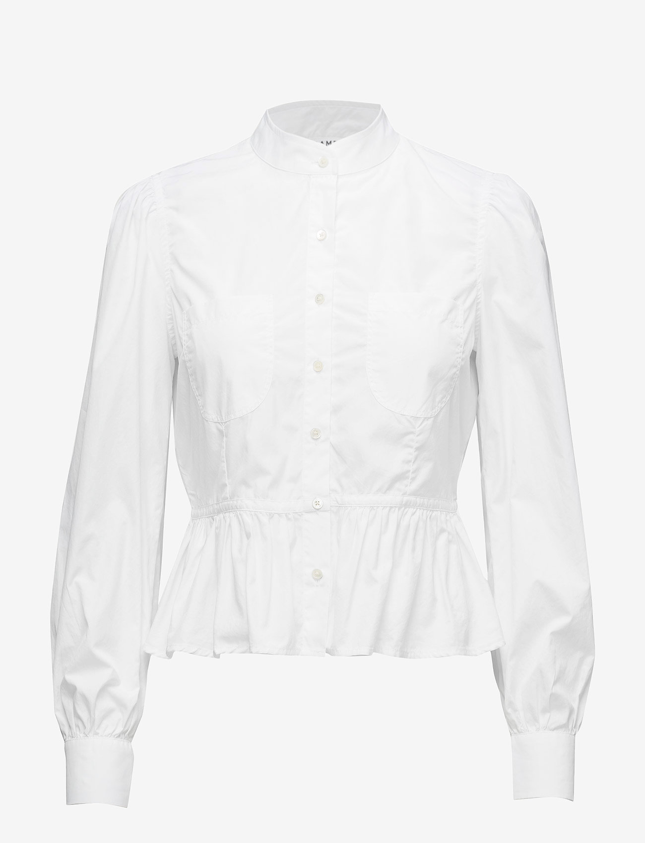 FRAME - DOUBLE POCKET PEPLUM BLOUSE - long sleeved blouses - blanc - 0