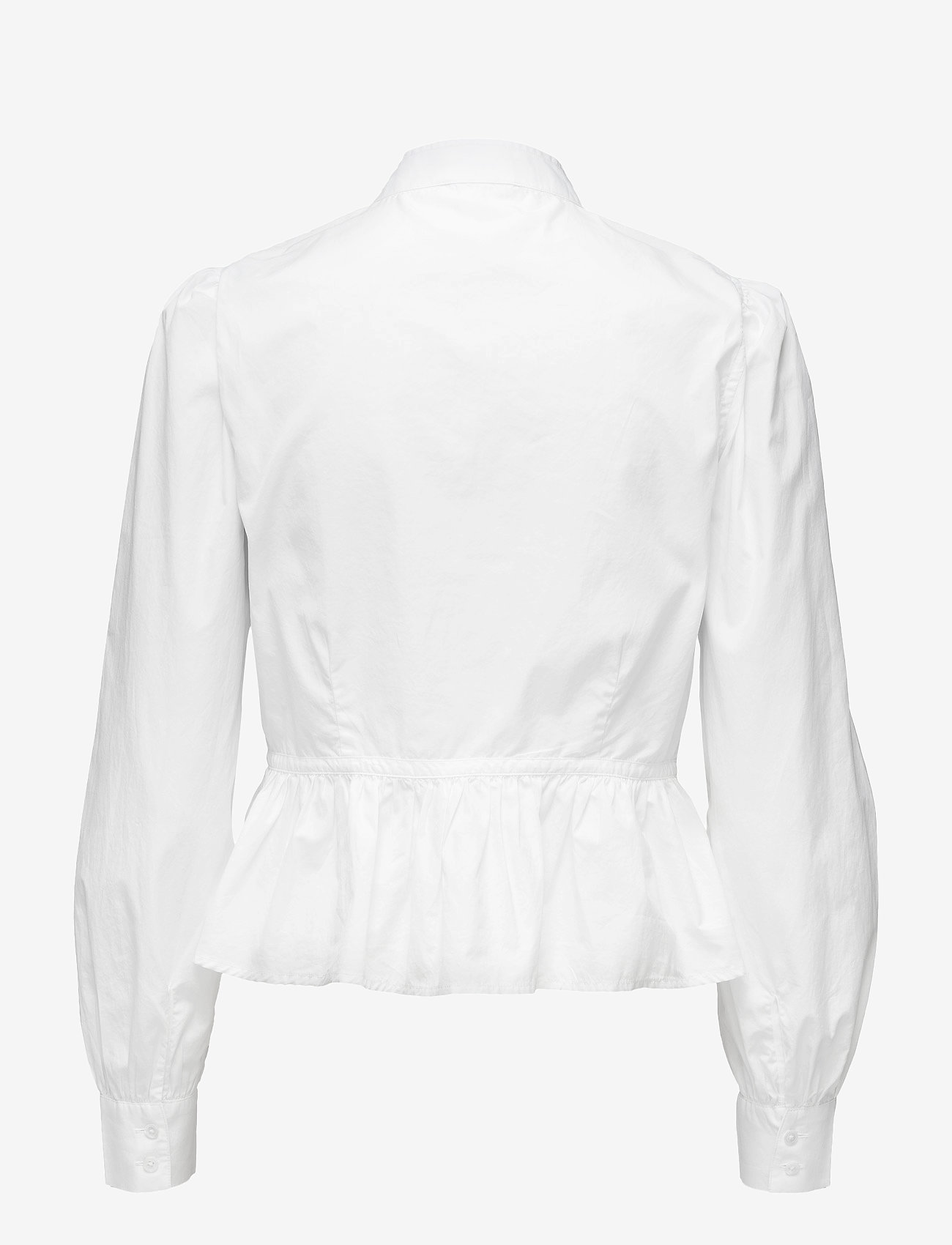 FRAME - DOUBLE POCKET PEPLUM BLOUSE - long sleeved blouses - blanc - 1