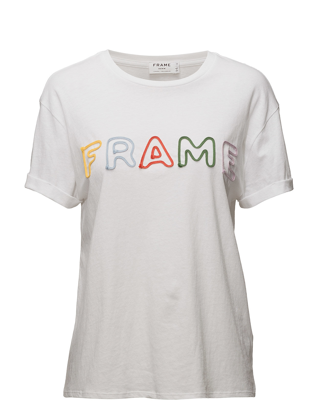 Rolled Frame Tee (Blanc) (£67.50) - FRAME - T-shirts & Tops | Boozt.com